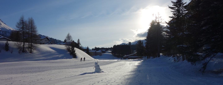 Winterferien Familie Schweizer Berge